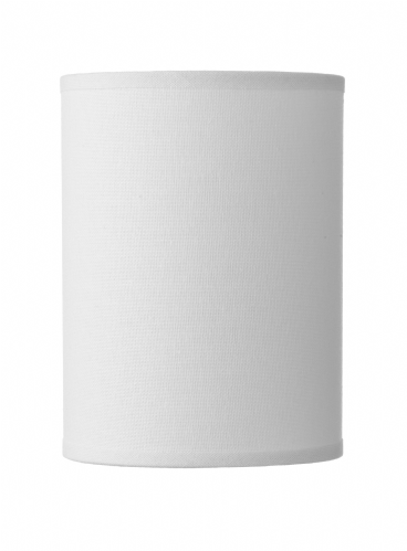 Dar Saddler White Cylinder Shade S60 (Hand made, 7-10 day Delivery)